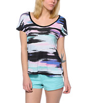 Empyre Lara Multicolor Cage Back Dolman Top
