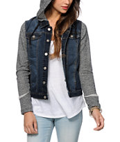 Empyre Laramie Hooded Denim Jacket