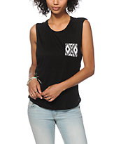 Empyre Lauryn Black Tribal Pocket Muscle Tee