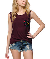 Empyre Lauryn Mixed Dot Pocket Muscle Tee