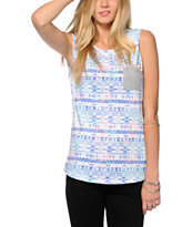 Empyre Lauryn Multi Tribal Muscle T-Shirt