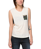Empyre Lauryn Van Ice Camo Pocket Muscle Tee Shirt