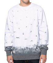 Empyre Leary Duck Hunt White Crew Neck Sweatshirt