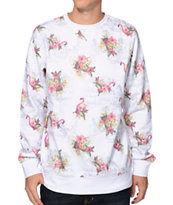 Empyre Leary Flamingo White Crew Neck Sweatshirt