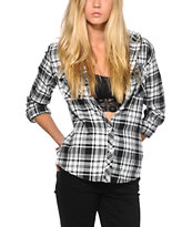 Empyre Lenox Black & White Flannel Shirt