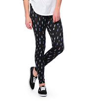 Empyre Lightning Bolts Black Printed Leggings