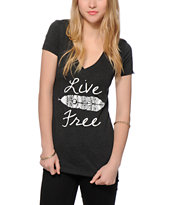 Empyre Live Free Feather V-Neck T-Shirt