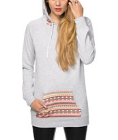 Empyre Long Beach Pastel Tribal & Grey Hoodie