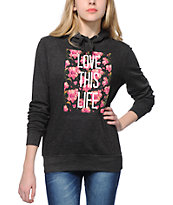 Empyre Love This Life Floral Hoodie