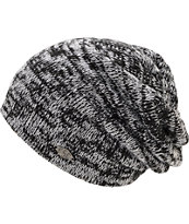 Empyre Lucid Black & White Marled Slouch Beanie