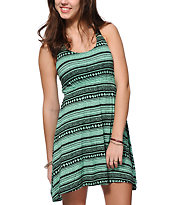Empyre Maritza Mint Tribal Print Dress