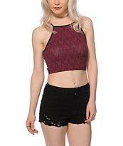 Empyre Mele Blackberry Tribal Crop Tank Top