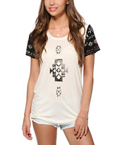 Empyre Menace Ombre Placed Tribal T-Shirt