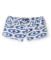 Empyre Mika Blue Tribal Shorts