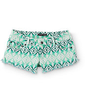 Empyre Mika Mint Tribal Shorts