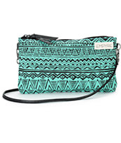 Empyre Mint & Black Tribal Pouch
