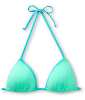 Empyre Mint Chevron Textured Molded Cup Triangle Bikini Top