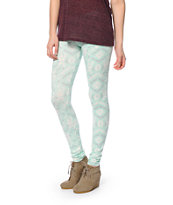 Empyre Mint Tribal Print Leggings