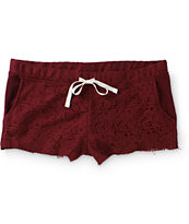 Empyre Misha Blackberry Crochet Shorts