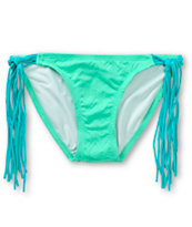 Empyre Monarch Mint Chevron Textured Fringe Bikini Bottom