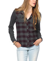 Empyre Monroe Blackberry Hooded Flannel Shirt