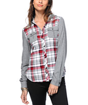 Empyre Monroe Red Hooded Flannel Shirt