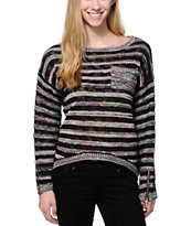 Empyre Multicolor Stripe Crew Neck Sweater