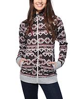 Empyre Naya Blackberry Tribal Sweater Tech Fleece Jacket