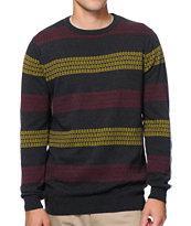 Empyre Nerdbot Charcoal Intarsia Stripe Sweater