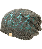 Empyre Noble Blue & Charcoal Reversible Lace Beanie