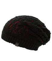 Empyre Noble Burgundy Crochet Reversible Beanie