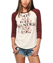 Empyre Not All Wander Baseball Tee