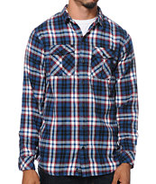 Empyre Odessa Navy Plaid Long Sleeve Flannel Shirt