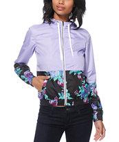 Empyre Orla Lavender Floral Windbreaker Jacket