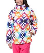 Empyre Palisade White & Rainbow 10K Snowboard Jacket