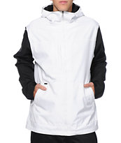 Empyre Paxon White & Black Colorblock 10K Snowboard Jacket 2014