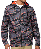 Empyre Pentax Tiger Camo Black, Grey & Orange Windbreaker