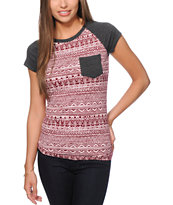 Empyre Petra Burgundy Tribal T-Shirt