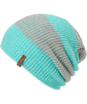 Empyre Piper Green & Grey Rugby Stripe Beanie