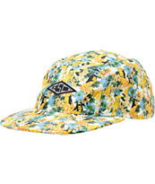 Empyre Potluck Yellow Floral Print 5 Panel Hat