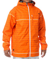 Empyre Ranger Orange Stripe 10K Snowboard Jacket 2013