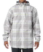 Empyre Ranger White Plaid 10K Snowboard Jacket 2013