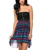 Empyre Ria Tribal Print Strapless High Low Dress