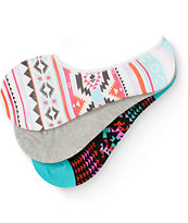 Empyre Rio Tribal 3 Pack No Show Socks