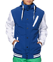 Empyre Rivalry Blue & White 10K 2014 Softshell Varsity Snowboard Jacket