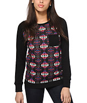 Empyre Robinson Colorful Aztec Crew Neck Sweatshirt