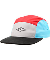 Empyre Rocket Black, Red, Grey,  & Blue  5 Panel Hat