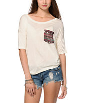 Empyre Rockridge Tribal Pocket Cream Top