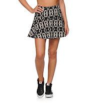 Empyre Rosella Black Tribal Fit & Flare Skirt