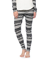 Empyre Rosette Feather Print Lounge Sweater Leggings